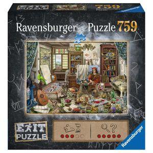 RAVENSBURGER EXIT Puzzle Das Künstleratelier Erwachsenenpuzzle Exit Room 759 pcs