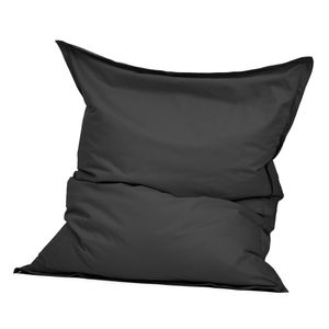Green Bean © SQUARE XXL Indoor Riesensitzsack 140x180 cm aus Baumwolle - 380L EPS Füllung - Dunkelgrau