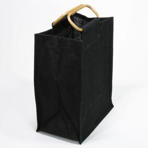 Jute-Flaschentasche schwarz