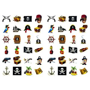 Oblique Unique 48 Piraten Sticker Aufkleber Set Deko Kinder Geburtstag