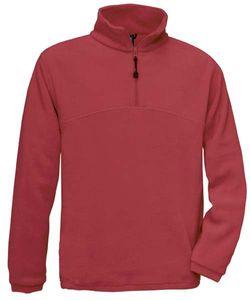 Fleecepullover B&C Highlander Unisex Fleecepullover Pullover Fleece bis 3XL , Größe:L, Farbe:RED