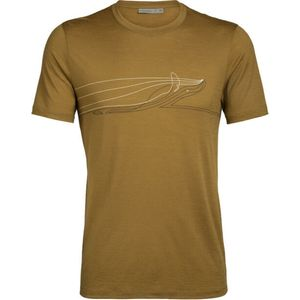 ICEBREAKER Mens Tech Lite SS Crewe Single Line CURRY M