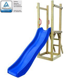 dereoir Spielturm mit Rutsche Leiter 237 x 60 x 175 cm Kiefernholz
