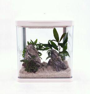 HR-230 weiß Nano Aquarium Komplettaquarium Mini Aquarium+Filteranlage