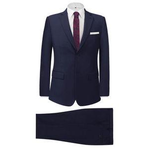 Huicheng 2-tlg. Business Anzug für Herren Marineblau Größe 46