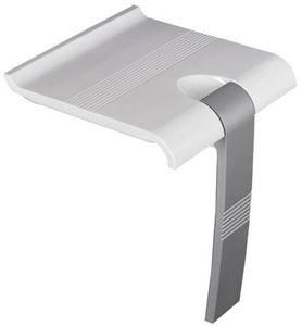 FRELU Duschklappsitz Duschsitz mit ausklappbarer Stütze Edelstahl, Fallsicherung, bis 150 kg belastbar