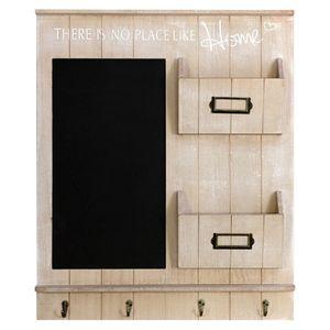 Wohaga® Wandorganizer mit Tafel, Holztaschen und Metallhaken