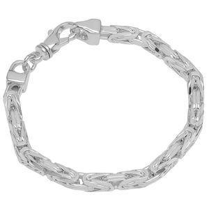 Armband 925 Sterling Silber 22cm Königskette 8 fach diamantiert Herren Armkette