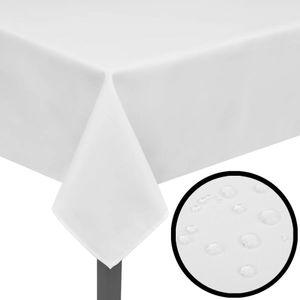 5 Tischdecken Wei? 100 x 100 cm