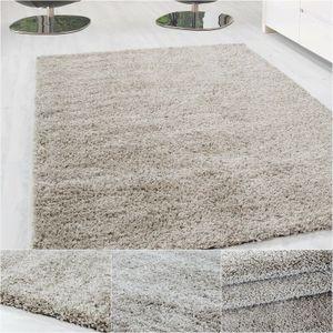 Hochflor Shaggy Langflor-Teppich Wohnzimmerteppich Soft Einfarbig in 14 Farben, Grösse:160x230 cm