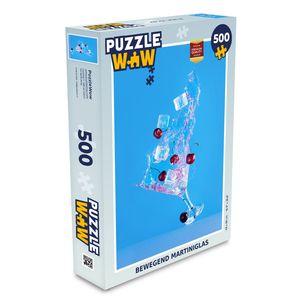 Puzzle 500 Teile - Bewegliches Martini-Glas