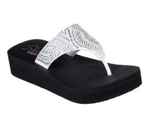Skechers Cali VINYASA STONE CANDY Sandalen/Zehentrenner Women Weiß, Schuhgröße:37 EU