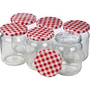6er Set Einmachgläser/Einmachglas - Einweckglas mit Schraubdeckel (210ml)