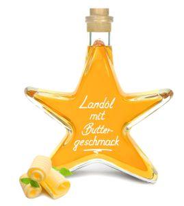 Landöl mit Buttergeschmack 0,2 L Sternflasche VEGAN wie zerlassene Butter cholesterin- und laktosefrei!