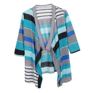 Damen 3/4 Ärmel Kimono Cardigan wie beschrieben Blau M