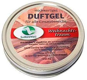 SudoreWell Duftgel 'Weihnachtstraum' für Sauna, Infrarotkabine und Badezimmer, 20g Dose