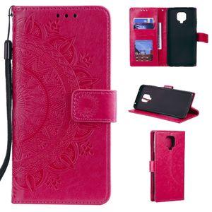 Xiaomi Redmi Note 9 Pro Handy Hülle Flip Case Cover Etui Mandala Pink