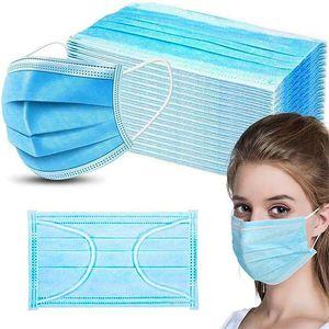 500X Atemschutzmasken Masken, 3 Lagig Maske Hygienemaske Staubschutz Mund Gesichtsmaske Blau