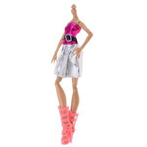 1 Stück Nude Doll Body (ohne Kopf) , 1 Stück Puppen Kleid , 1 Paar Puppen Stiefel ,