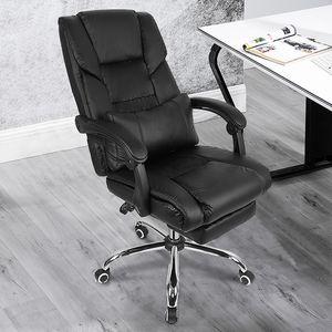 Boss Stuhl, Racing Stuhl,Ergonomischer Bürostuhl Verstellbare Rückenlehne, verstellbare Armlehnen, mit Kissen Taille,Schwarz-OV