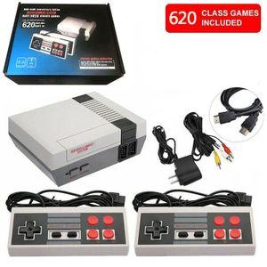 Retro Mini-TV-Spielekonsole, integrierte 620 klassische Spiele, NES-Spielekonsole, kann Familie begleiten (vier Tasten)