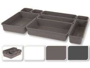 Schubladenorganisatoren - 8 Stück im Set, Farbe braun - Storagesolutions, Farbe:braun