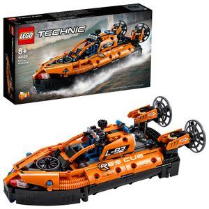 LEGO 42120 Technic Luftkissenboot für Rettungseinsätze - Flugzeug, 2-in-1 Spielzeug aus Bausteinen, Geschenk für Mädchen und Jungen ab 8 Jahren