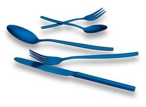 Echtwerk Tafelbesteck Positano-Blue Edition, 30-teilig, für 6 Personen