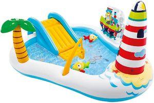 INTEX 57162NP Playcenter 'Fishing Fun' Planschbecken (218x188x99) Kinderplanschbecken Spielcenter