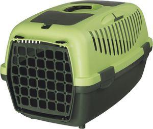 TRIXIE Capri 1 & 2, Fester Transportbox, Haustiertransportbox, Hund, 8 kg, Frontlader, Grün