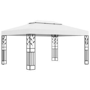 vidaXL Pavillon mit Doppeldach 3x4 m Weiß