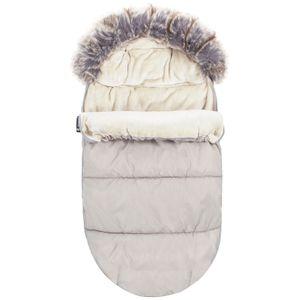 Fußsack Weich 90cm Winterfußsack Kinderwagen- Babyschale Babyfußsack Zip - Beige