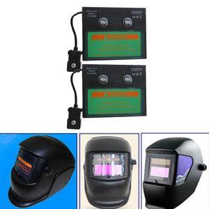 2 Stü Solar Auto Verdunkelung Schweißhelm Objektiv Filter Shade, Augen Gesicht Vollen Schutz Gegen Uv Und Ir Strahlung