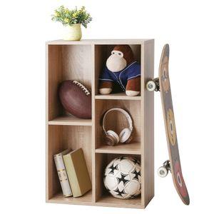VASAGLE Bücherregal mit 5 Fächern, Bücherschrank, Regal zur Präsentation, 50 x 24 x 80 cm (L x B x H), eichenfarben LBC25NL