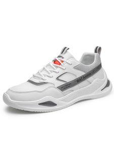 Abtel Herren Lauf Fitness Turnschuhe Mesh Schnür-Freizeitschuhe Mode Verschleißfeste Laufschuhe,Farbe: Weiß ,Größe:42