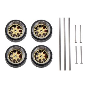1/64 Skala Fahrzeug Räder Für Auto Modelle Auto Accs Erwachsene Spielzeug A6 Golden Modern Räder im Maßstab 1/64