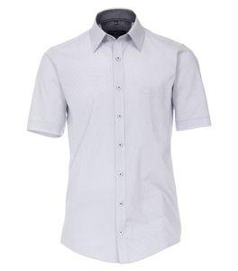 Casa Moda - Casual Fit  - Herren Freizeit 1/2-Arm-Hemd mit Kent Kragen (903448500), Größe:M, Farbe:Blau (100)