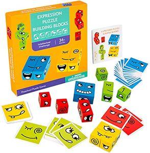 Cartoon Würfel Gesicht ändernde Bausteine Burger Obst Puzzle Montessori Angst Erleichterung Kinderspielzeug
