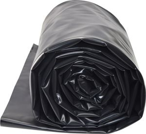 TEICHWERKplan Teichfolie PVC 6 x 8 m schwarz 0,5mm Teich Folie 48 m² Gartenteichfolie Gartenteich Koiteich Bachlauf Plane Pond