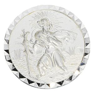 JOBO Autoplakette Schutzpatron Christopherus 925 Sterling Silber mattiert