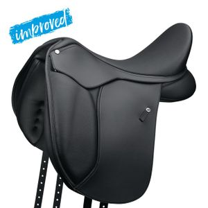 WINTEC 500 Dressur Sattel, schwarz, 15 Zoll (38 cm)