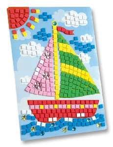 """folia Moosgummi-Mosaik """"Schiff"""" 405 Teile"""