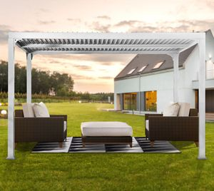 Paragon Outdoor Aluminium Pavillon 300x360 cm Pergola Novara 10x12 weiß