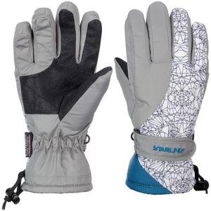 STARLING Skihandschuhe Taslan Jr Mirre Grau/Weiß/Petrol, Größe:6/164