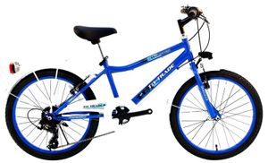 20 Zoll Kinder Jungen City Fahrrad Kinderfahrrad Jungenfahrrad Citybike Cityrad Cityfahrrad Rad Bike Beleuchtung 7 Gang Shimano BOOSTER blau