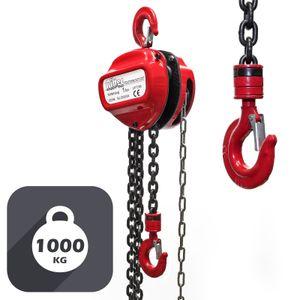 Kettenzug 1000kg 1t 3m Seilzug Flaschenzug Hubhöhe Kran Kettenflaschenzug Kette