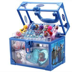 Kinder-Schminkkoffer,Kinderkosmetik,Geschenksets für Mädchen,blau