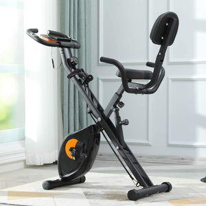 X-Bike Sport Fitnessfahrrad für Heimtrainer Fitnessbike X-Bike mit Handpulsmessung & LCD Monitor faltbares Standfahrrad Fitnessgerät für Zuhause Büro Training