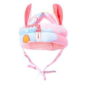 Antikollisionsschutzhut Baby Schutzhelm Kappe Farbe Rosa