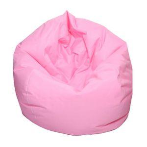 Wasserdichte gefüllte Tier Speicher Sitzsack Abdeckung extra großen 1 60x65cm Rosa Einfarbig Sitzsack Sofabezug
